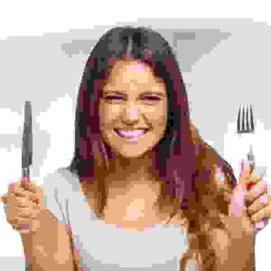 Starving woman